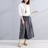 Women Summer Casual Stripe Stylish Color Match Loose Pants - Buykud
