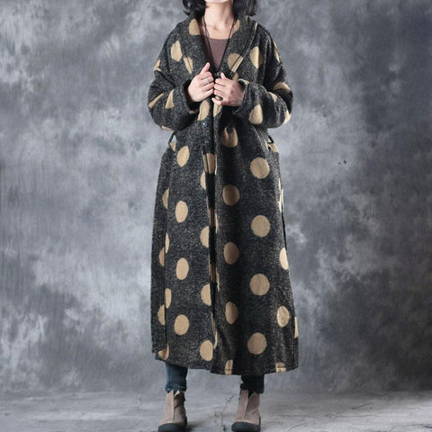 Autumn Winter  Women Lapel Casual Snap Front Long Sleeve Coat - Buykud