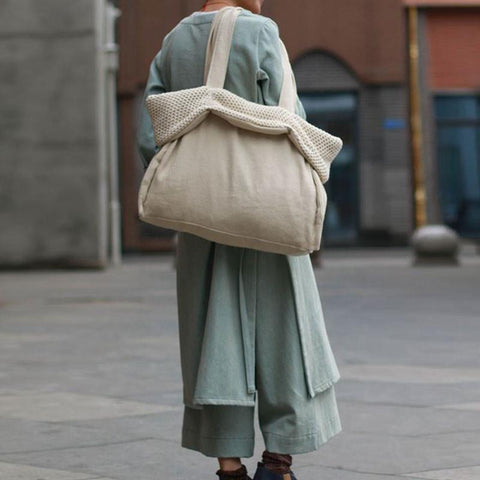 Casual Retro Cotton Linen Shoulder Bag - Buykud