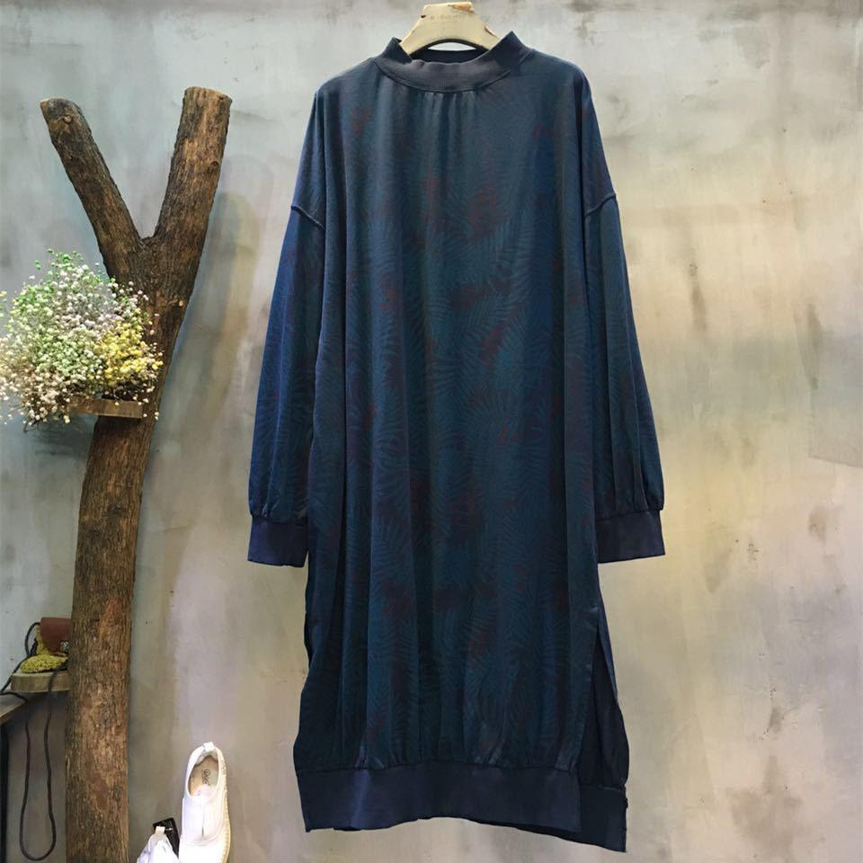 Women Casual Loose Cotton Dress - Buykud