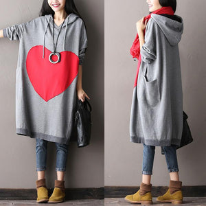 Women Plus Size Cotton Gray Dress - Buykud
