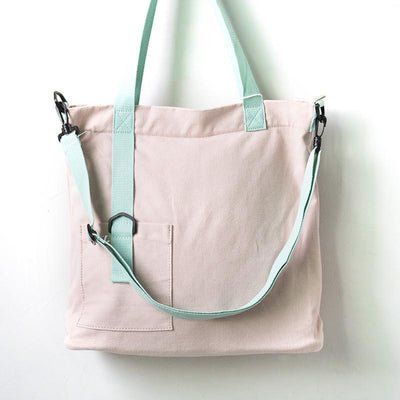 Casual Large Capacity Women Canvas Shoulder Bag - Buykud