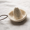 Literature Little Folded Chic design Knitting Beige Women Necklace - Buykud