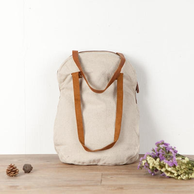 Exquisite Embroidery Splicing Beige Shoulder Bag - Buykud