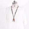 Ethnic Retro Vintage Jewelry Wooden Women Necklace - Buykud