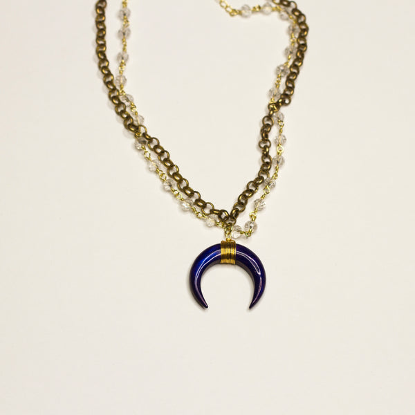 Cora Small Crescent Double Necklace