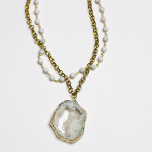 Demi Druzy Double Necklace