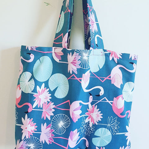 "Tote Bag - ""Flamingo Flurry"""