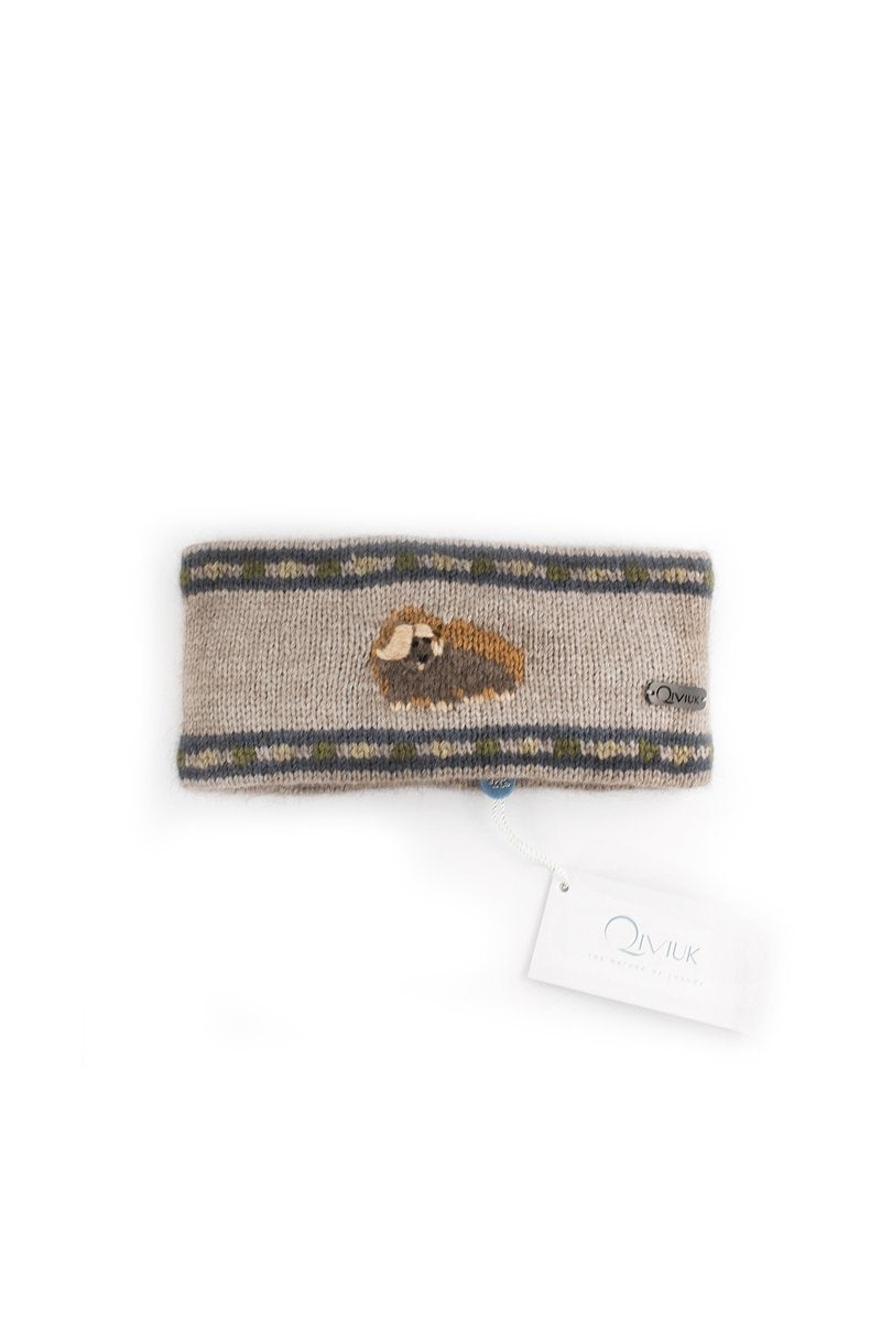 Qiviuk, Merino & Silk Muskox headband in natural by Qivuk Boutique