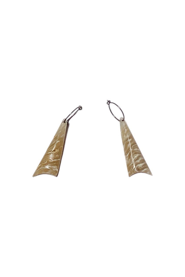 Muskox horn long drop Nini earrings by Qiviuk Boutique