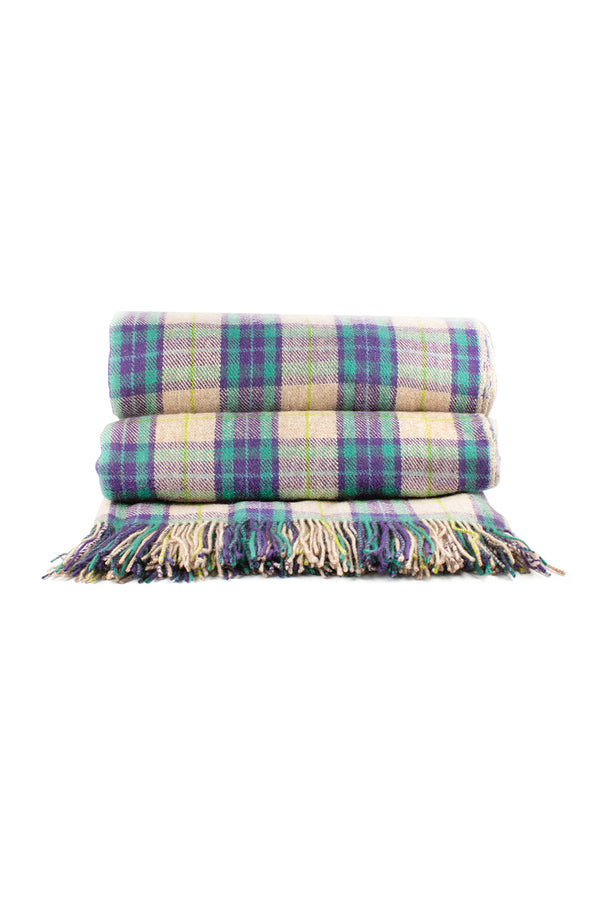 Qiviuk and Cashmere Tartan blanket by Qiviuk Boutique