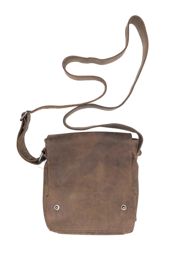 Bison leather messenger bag 2015 hand made for Qiviuk Boutique