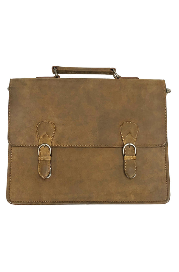 Buffalo leather briefcase 2030 by Adrian Klis