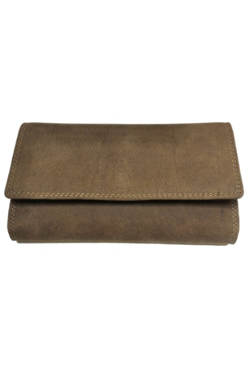 Bison Leather Woman Wallet 205 Hand Made