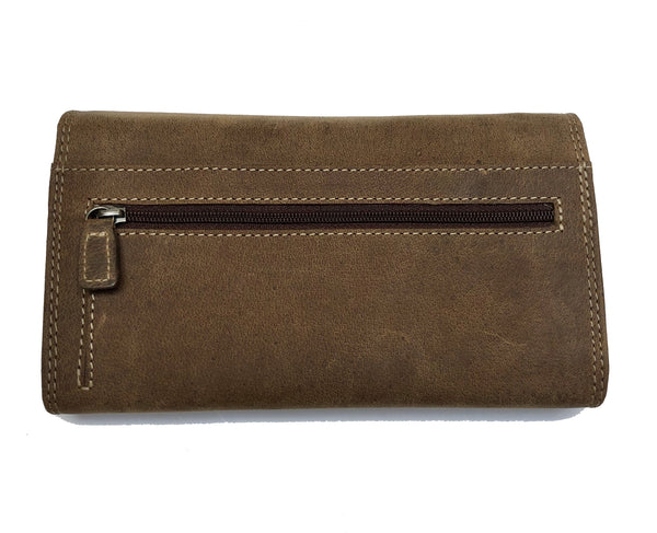 Buffalo Leather Woman Wallet 205 Hand Made for Qiviuk Boutique