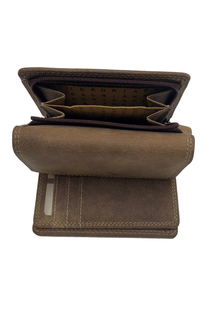 Buffalo Leather Woman Wallet 206 Hand Made for Qiviuk Boutique