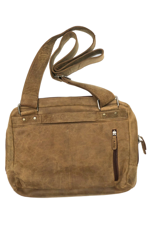 Buffalo leather man messenger bag 2592 by Adrian Klis