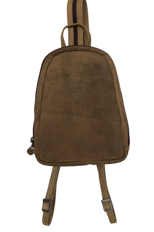 Bison Leather Woman's Backpack 2602 Hand Made