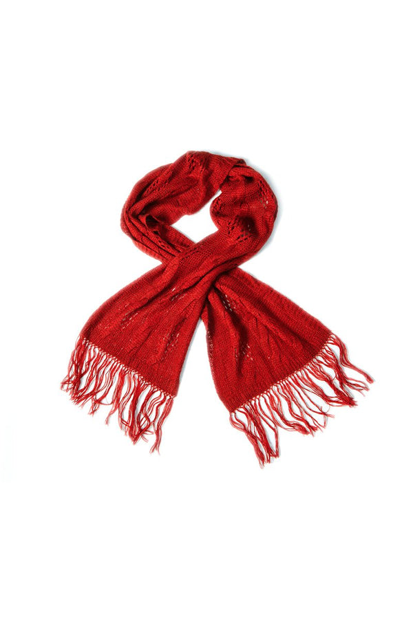 Qiviuk and Silk Punto ladies scarf in red by Qiviuk Boutique