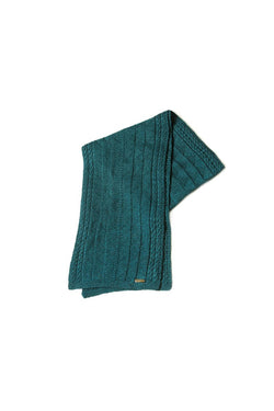 Bison, Merino and Silk Rogelio unisex scarf in blue made by Qiviuk Boutique