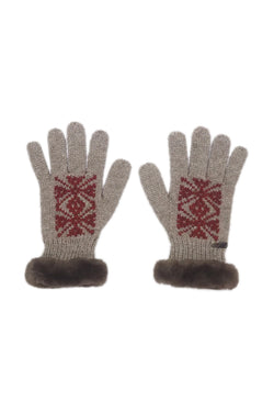 Bison, Merino & Silk Adelaida woman's gloves by Qiviuk Boutique