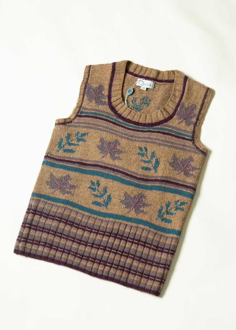 Bison & Merino Aldana women's Vest Hand Made by Qiviuk