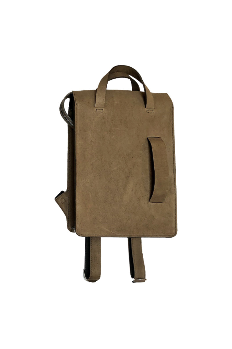 Muskox leather woman's backpack in Light brown