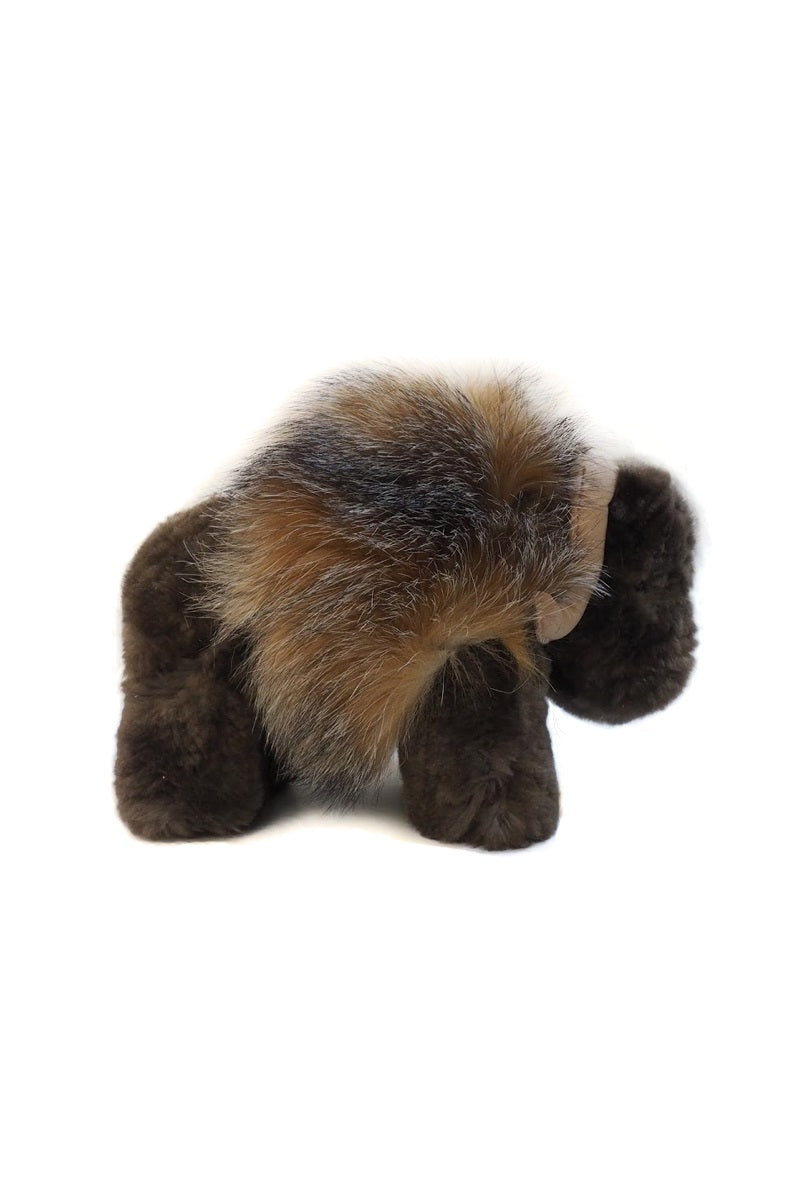 Muskox S doll made with beaver and fox fur by Qiviuk Boutique