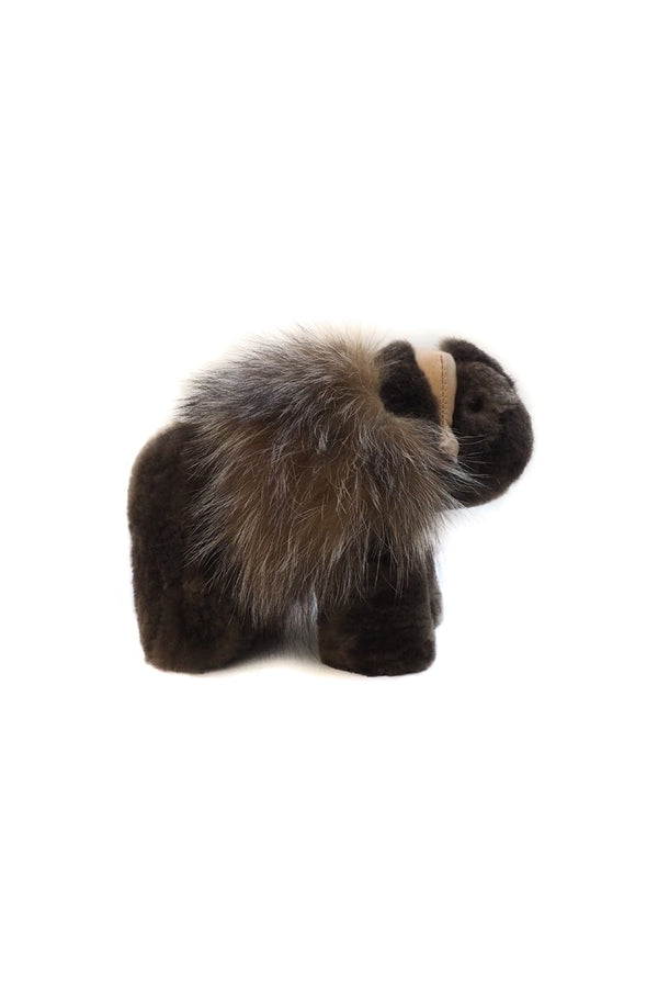 Muskox XS doll made with beaver and fox fur by Qiviuk Boutique