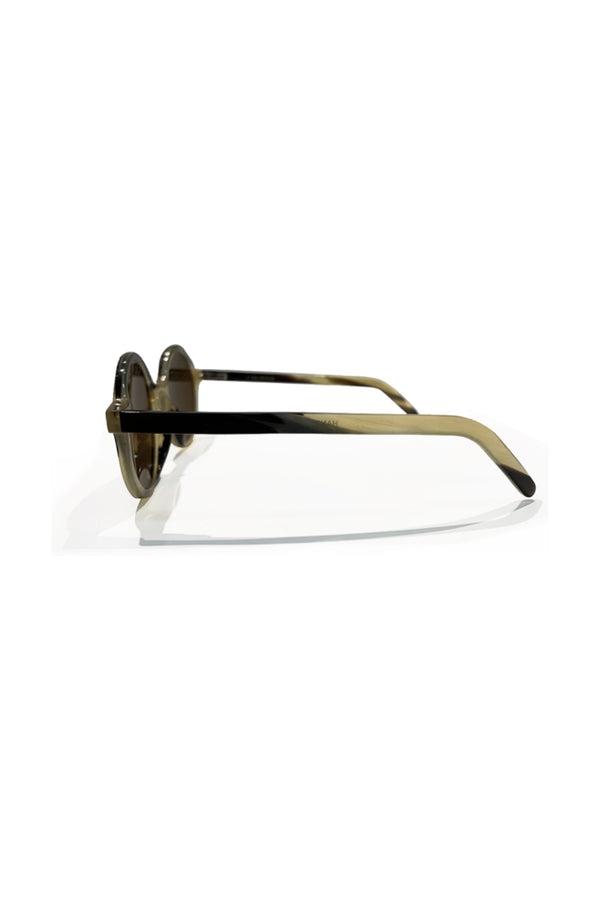 Buffalo Horn Glasses Bubalus Brown Lens