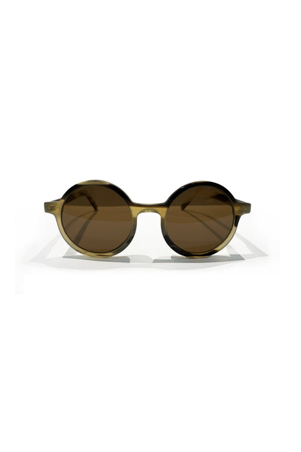 Buffalo horn Bubalus sunglasses w brown lenses made for Qiviuk Boutique