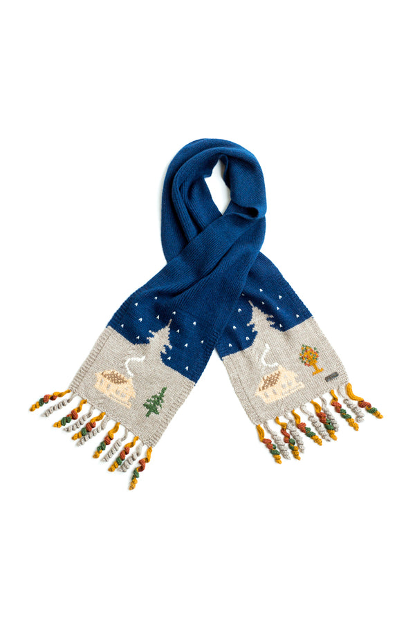 Qiviuk, Merino and Silk Cabin ladies scarf by Qiviuk Boutique