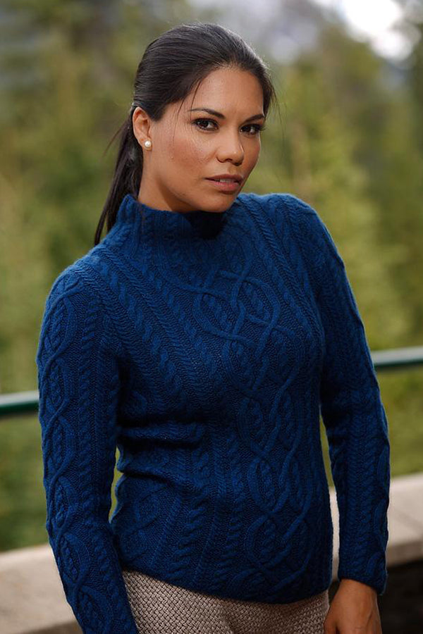 Bison and Merino Damaris ladies pullover made by Qiviuk Boutique