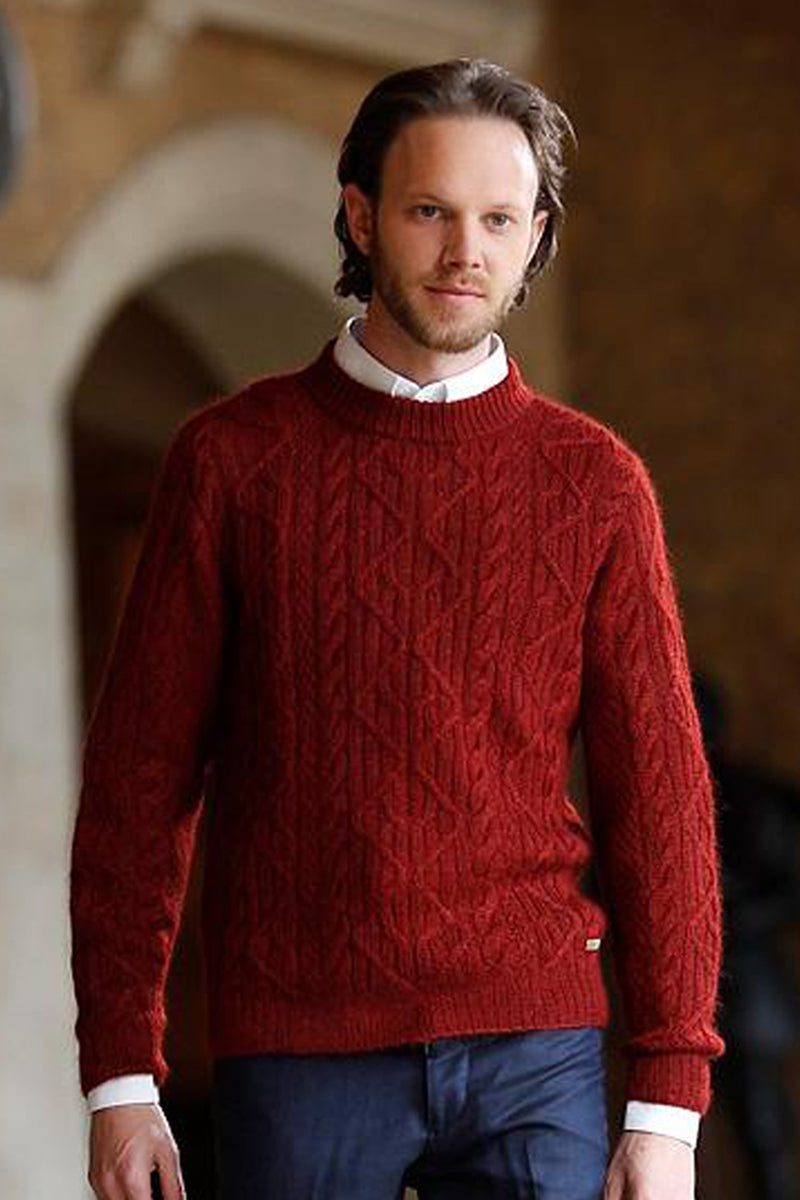 Qiviuk, Merino & Silk Fisherman men's pullover by Qiviuk Boutique