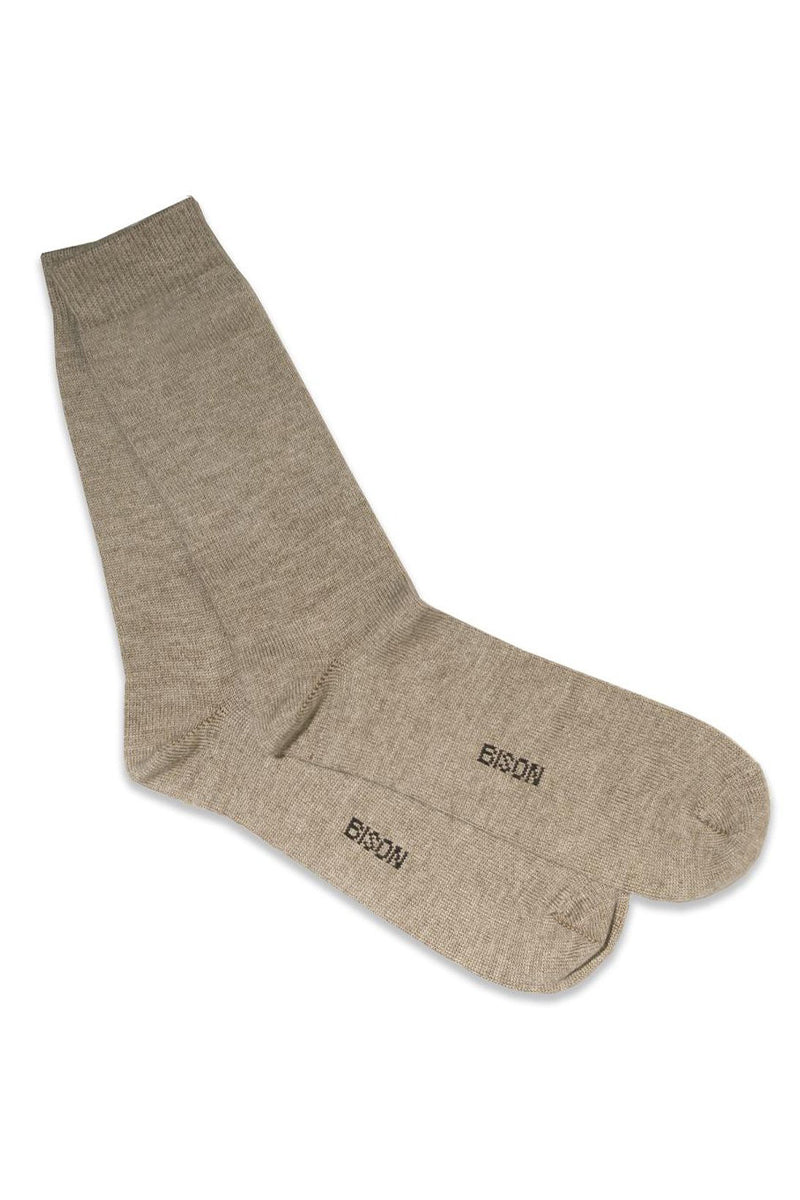 Bison, Merino & Silk Jersey woman socks in natural by Qiviuk Boutique