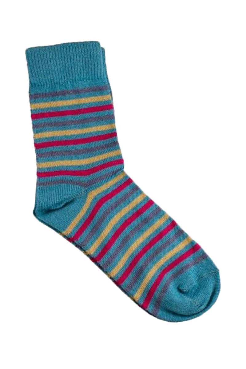 Heavenly Alpaca & Silk woman socks in turquoise by Qiviuk Boutique