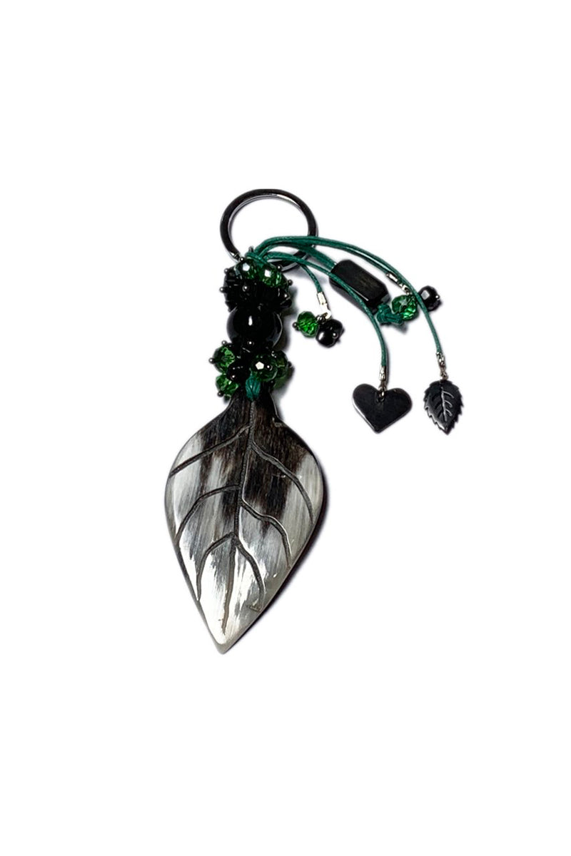Bull horn leaf keychain N-38 by Qiviuk Boutique