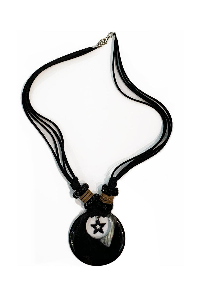 Bull horn Necklace N-44 by Qiviuk Boutique