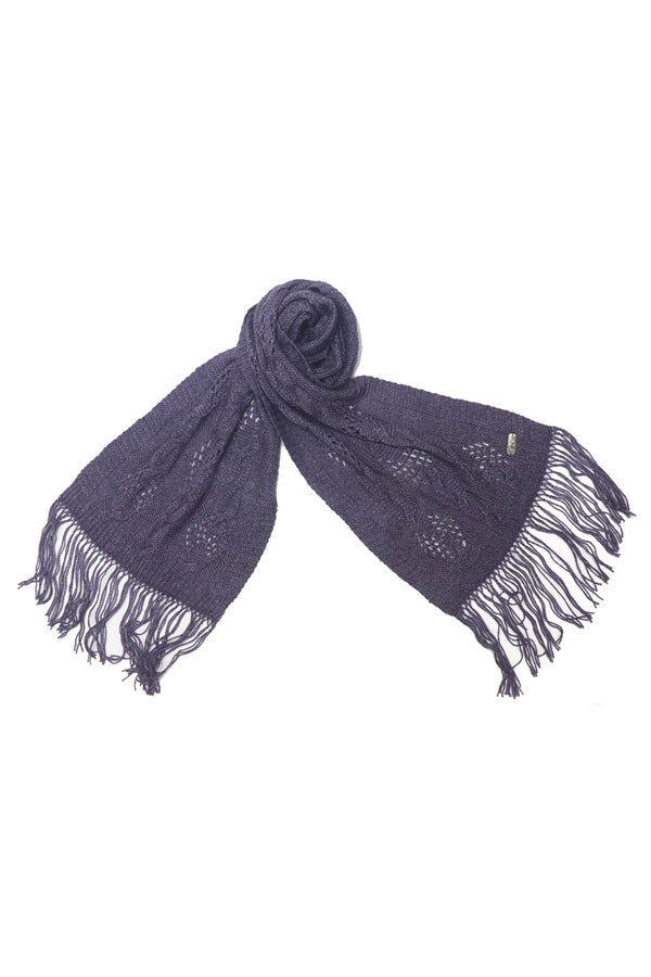Qiviuk and Silk Punto ladies scarf in lilac by Qiviuk Boutique