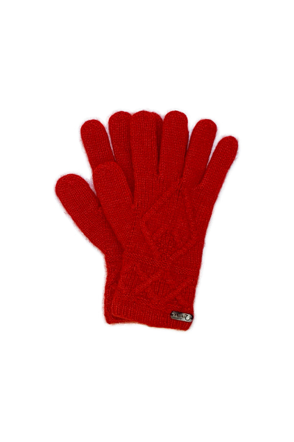 Mena Woman Gloves Qiviuk & Merino in red by Qiviuk Boutique