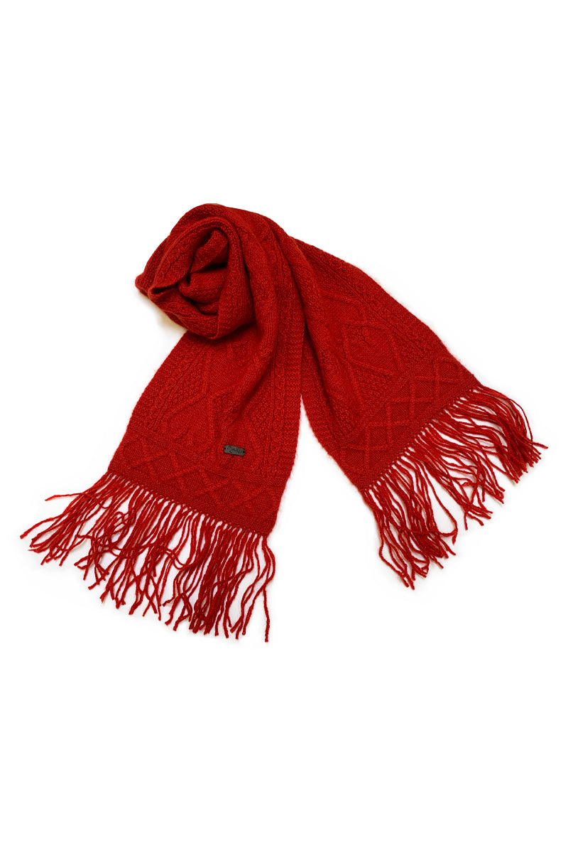Mena Woman Scarf Qiviuk & Merino in red by Qiviuk Boutique