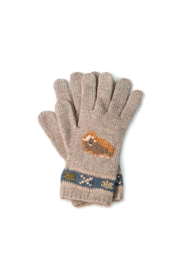 Qiviuk, Merino & Silk Muskox ladies gloves in natural by Qivuk Boutique
