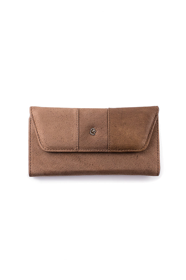 Muskox leather ladies wallet carmin in brown by Qiviuk Boutique