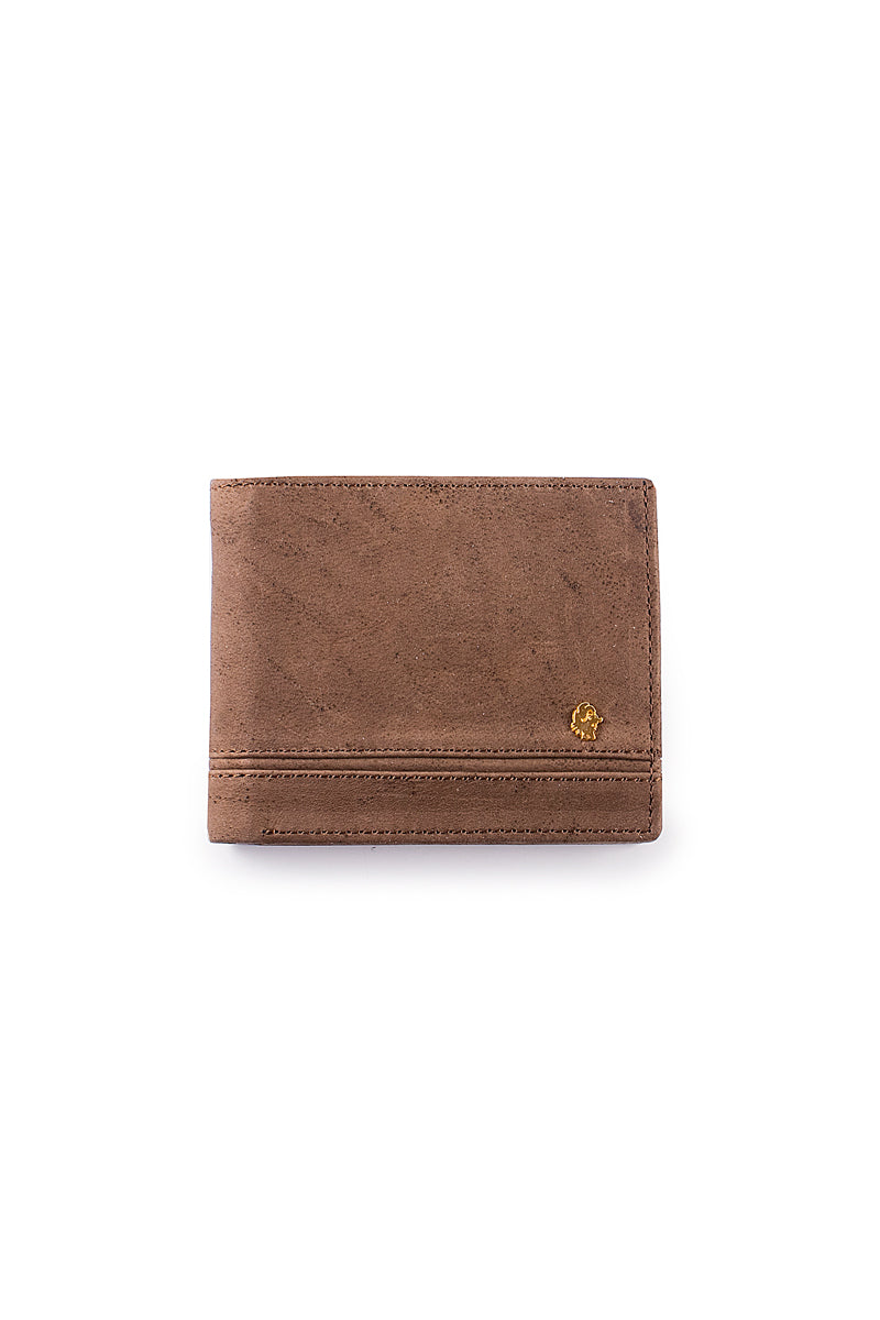 Muskox leather mens wallet George in brown by Qiviuk Boutique