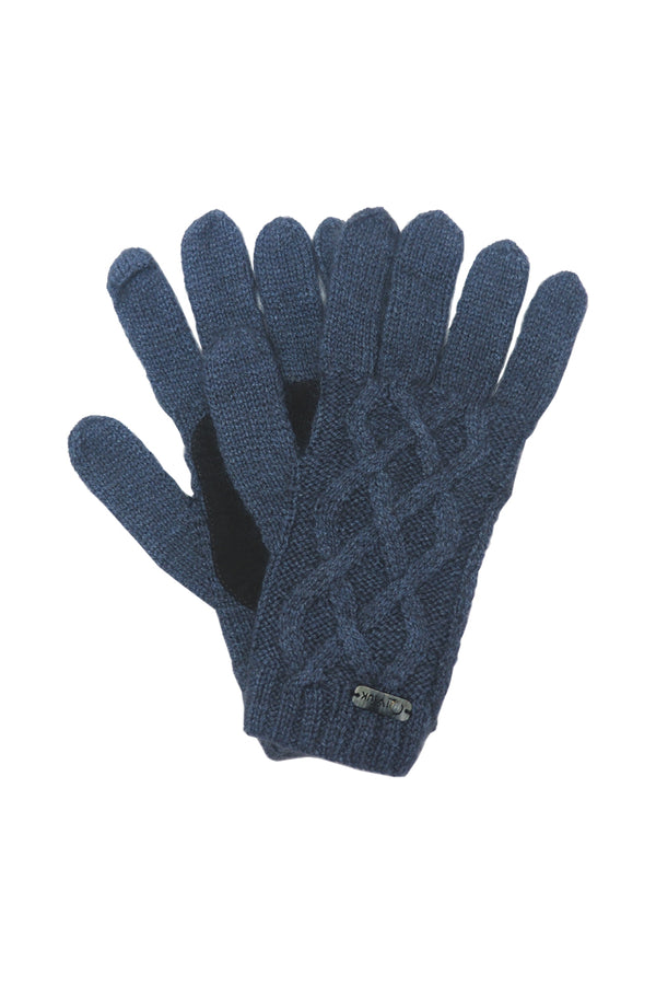 Qiviuk, merino & silk Renzo man gloves in light blue by Qiviuk Boutique