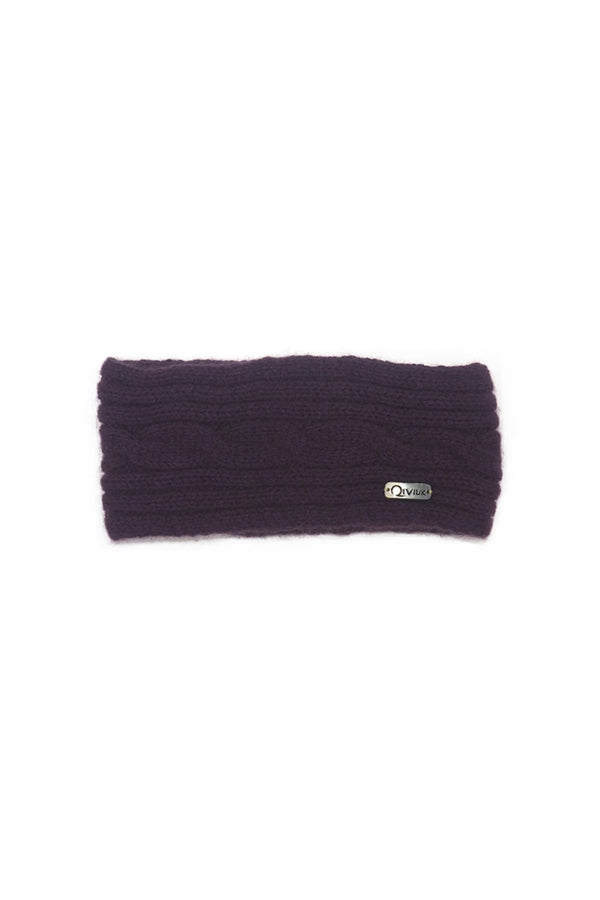 Qiviuk Simple cable headband woman's in purple by Qiviuk Boutique