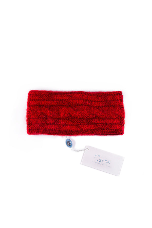 Qiviuk Simple Cable headband in red 3009 by Qiviuk Boutique