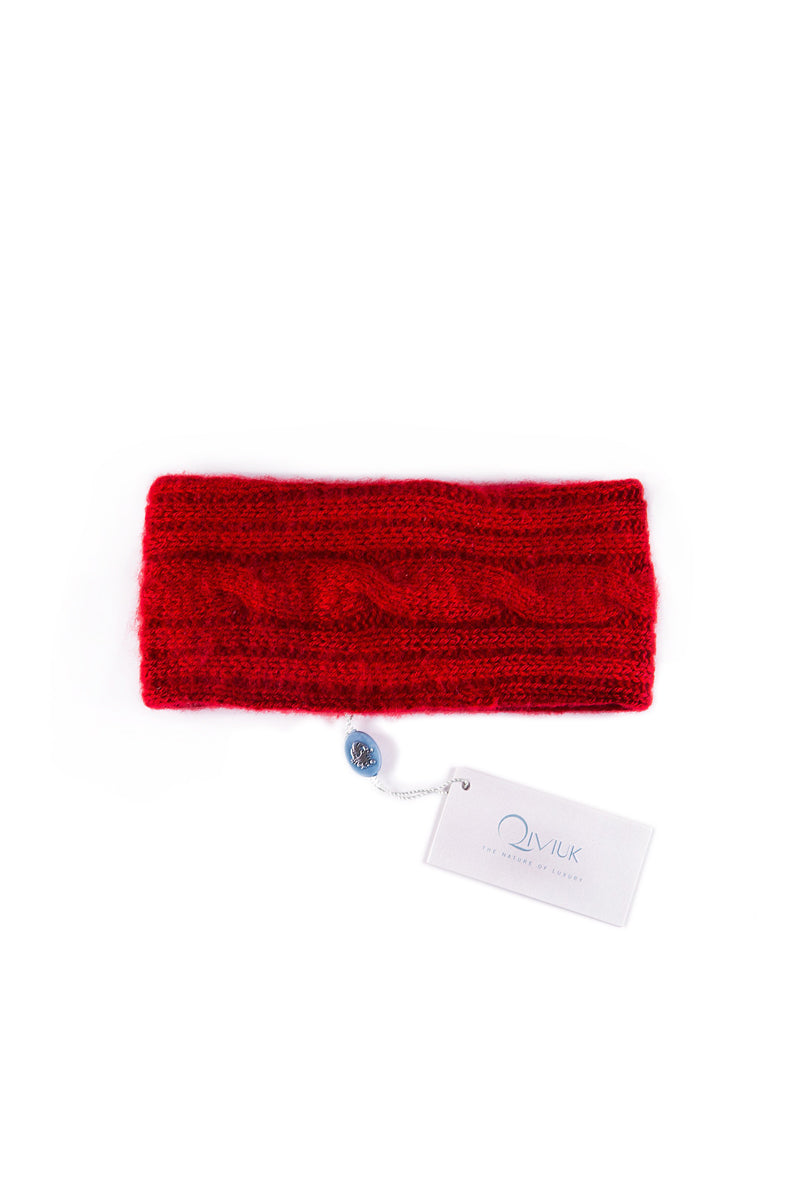 Simple Cable Woman Headband Qiviuk