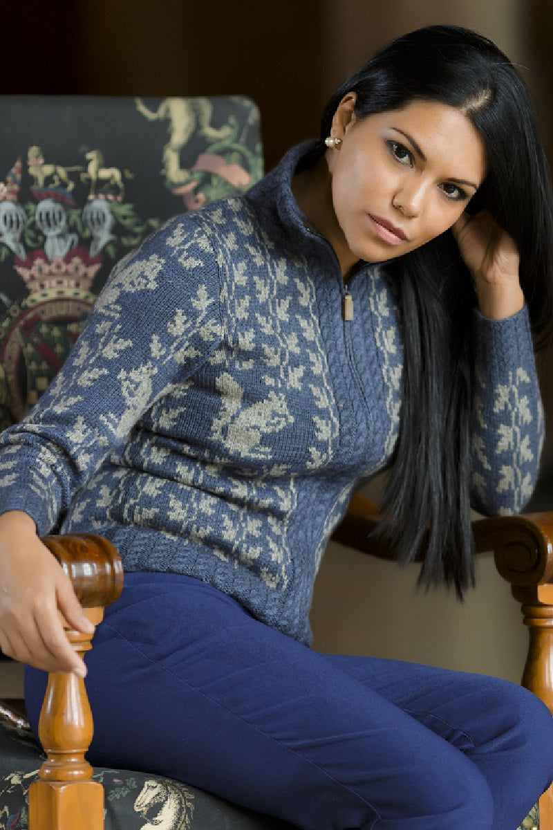Qiviuk, Merino & Silk Squirrel ladies cardigan by Qiviuk Boutique
