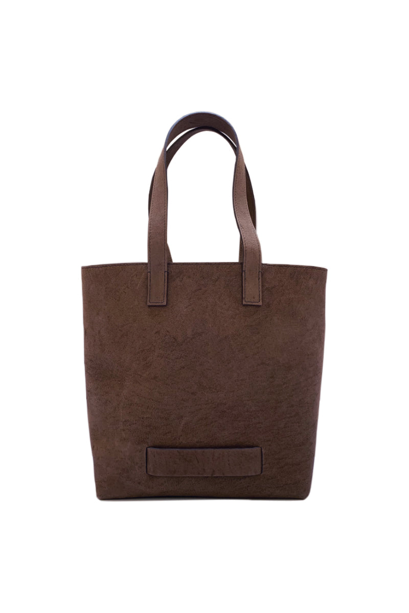 Muskox leather Medium Tote bag in Chocolate brown by Le Feuillet for Qiviuk Boutique